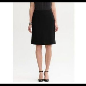 Banana Republic Blk Wool Marilyn Rear Zip Skirt